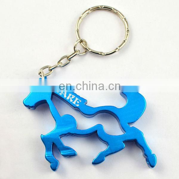 Hot selling bottle opener metal horse keychains