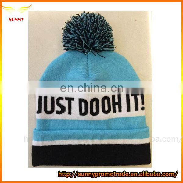 100% Acrylic Kintting beanies hats embroidered street style