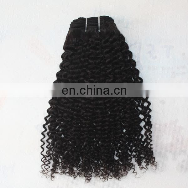 Factory hair wholesale top quality human hair last long indian kinky curly remy hair weave