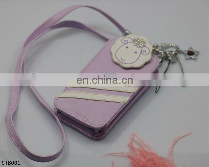 new arrivial custom pu leather cell phone leather bag