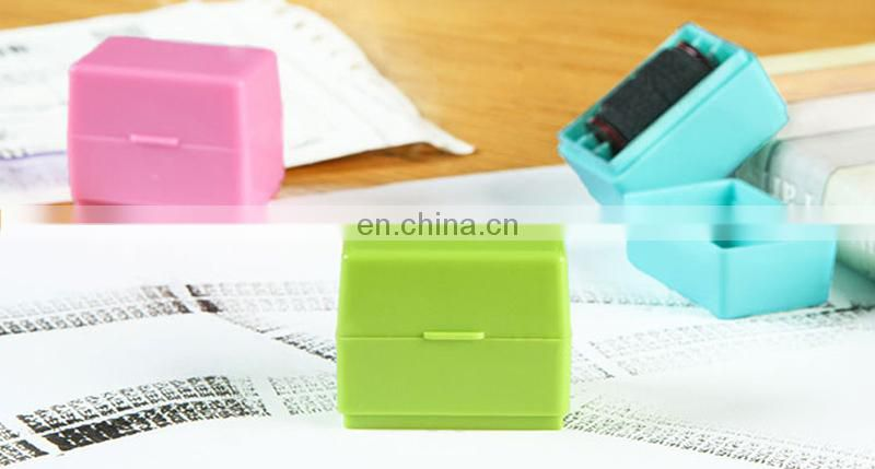 Document Information Security Rubber Stamp Writing Cover Self Inking Stamper