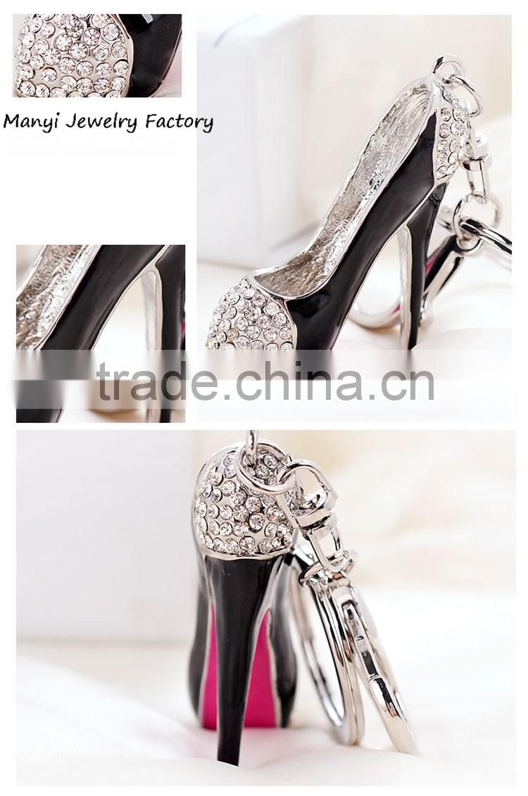 Fashion jewelry wholesale alibaba high-heeled shoe key chain metal K0015