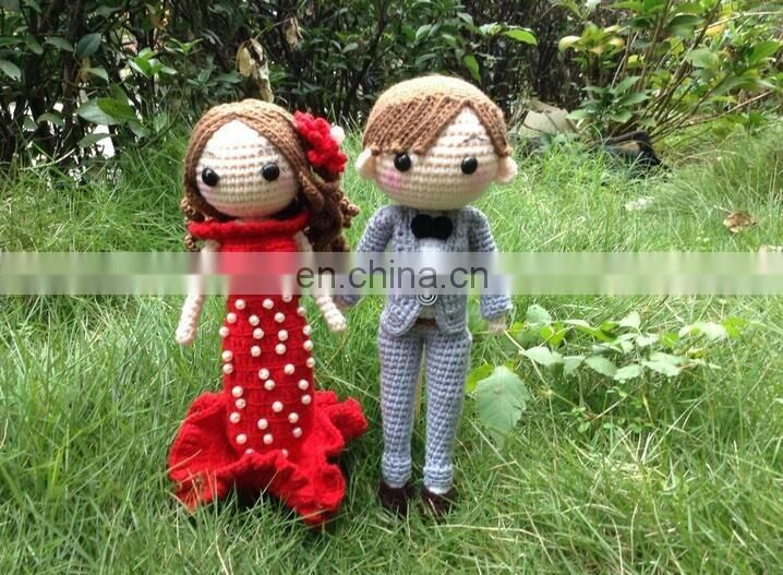 crochet Toys ,hand made knitted doll., heavy thread cotton doll made by wool yarn