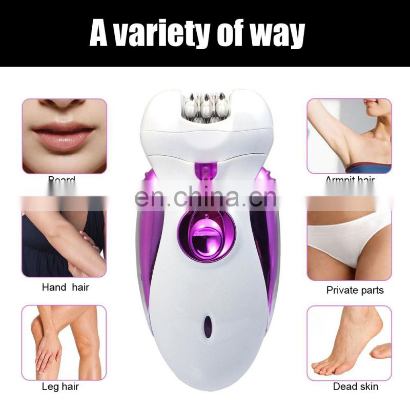 High Quality Rechargeable Shaver Waterproof Electric Epilator Clipper for Lady
