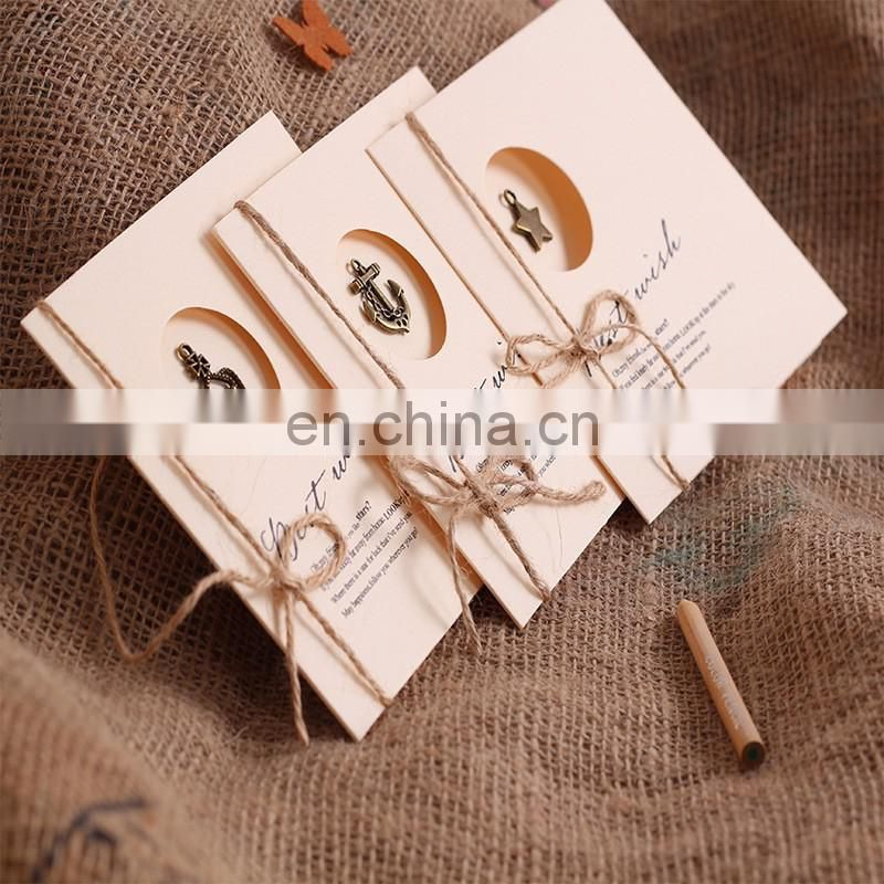 New arrive handmade paper greeting cards designs metal charm new arrive handmade paper greeting cards designs metal charm creative greeting card m4hsunfo