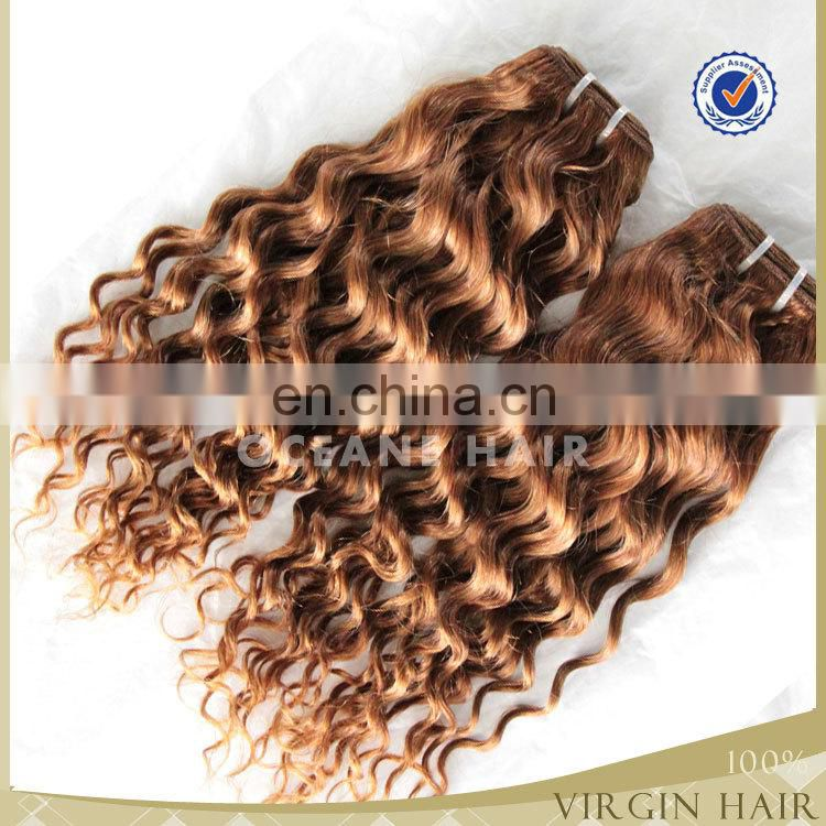 Factory price best quality cheap weave hair online virgin color hair bundles brown color hair 100 percent human hair