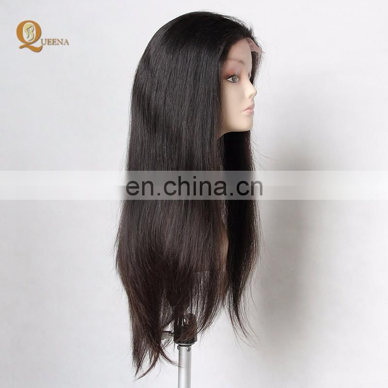 Best Selling Products Straight Virgin Hair Indian Human Hair Full Lace Wig In Dubai