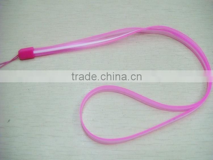 Universal mobile phone lanyard long section material PVC double color neck lanyard size 44*0.5cm factory manufacture