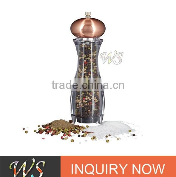 WS-SH17Z Manual Pepper Mill, Transparent salt and pepper grinder wholesale