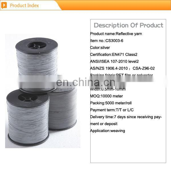 high visibility reflective yarn for clothing