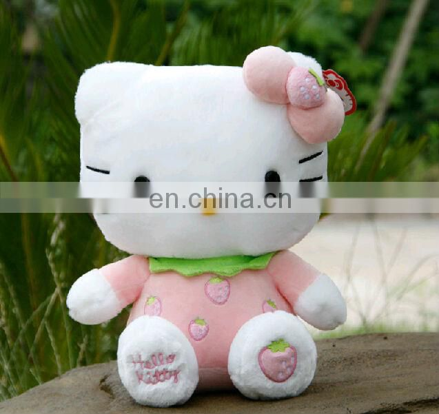 OEM pink hello kitty soft toys for baby gift