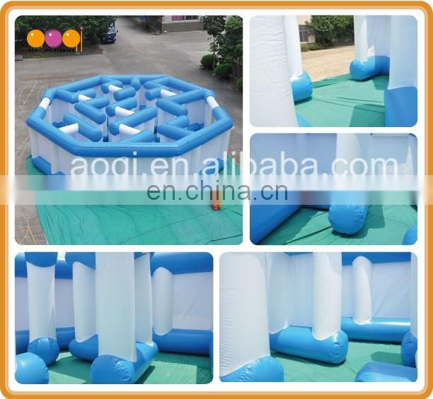Round interactive inflatable game labyrinth inflatable maze for outdoor leisure activities