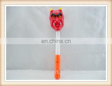 Plastic halloween ghost devil toy flashing stick