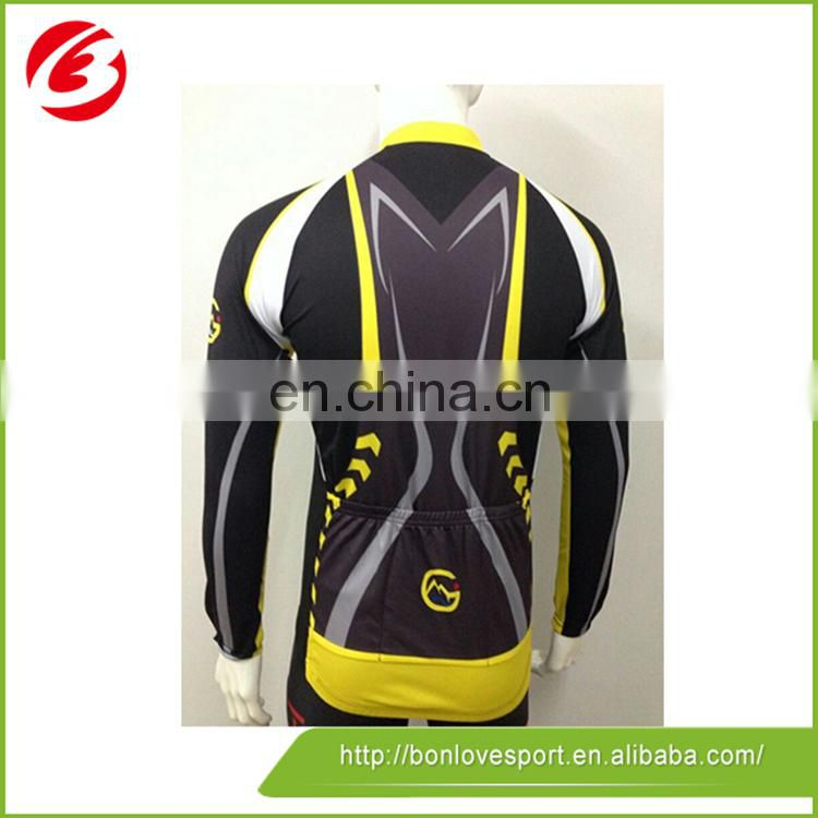 Fashionable Colorful Bike Wear Long Sleeve Cycling Jersey