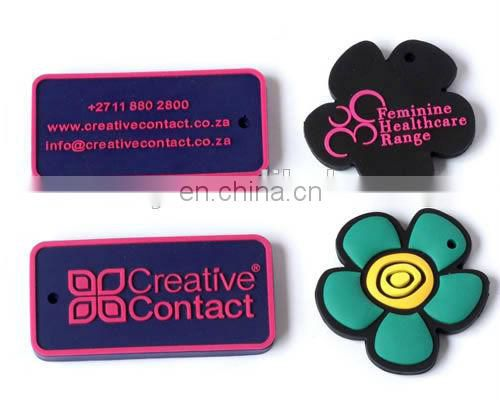 Soft rubber PVC clothing label