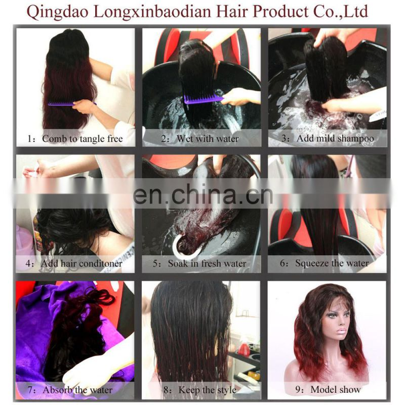 2017 hot sale brazilian hair natural hair wigs lace front human hair wig