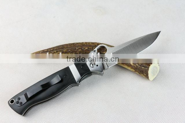 OEM S30V blade material folding hunting knife with G10