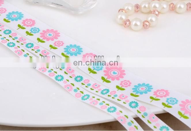 hot sale sunflower polyester ribbon for bowkont