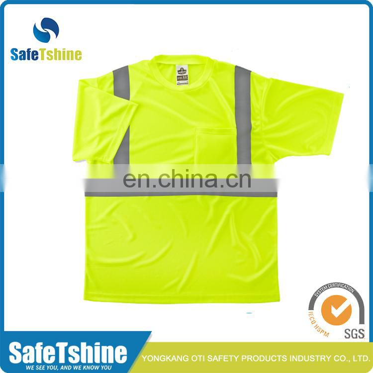 Most competitive yellow best visibility reflective high quality t-shirt