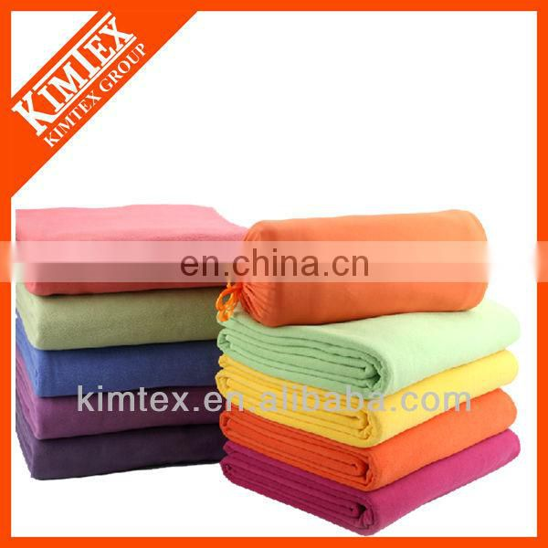 2015 New fashion colorful custom polar fleece blanket