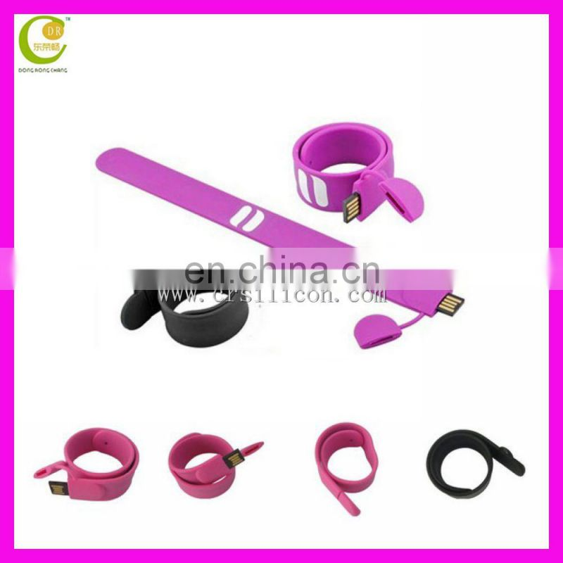 Top Selling Custom Oem Silicone Wristband Eco-Friendly New Design Silicone Usb Bracelet
