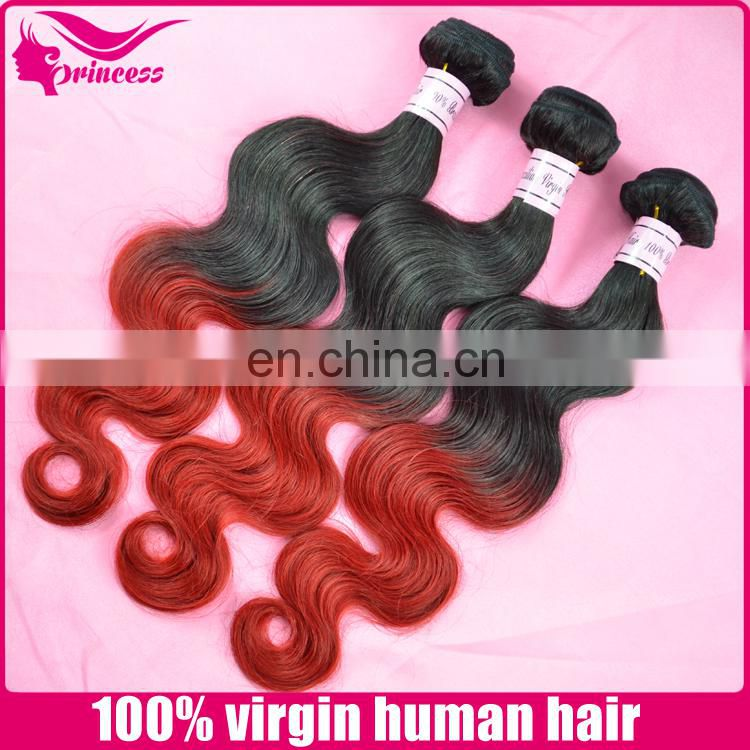 100% human hair no synthetic real sew in human hair weave ombre hair