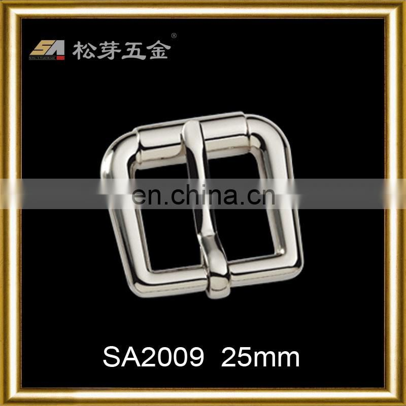 Hot sale metal square buckle nickel color pin buckle use for dog collars/chain