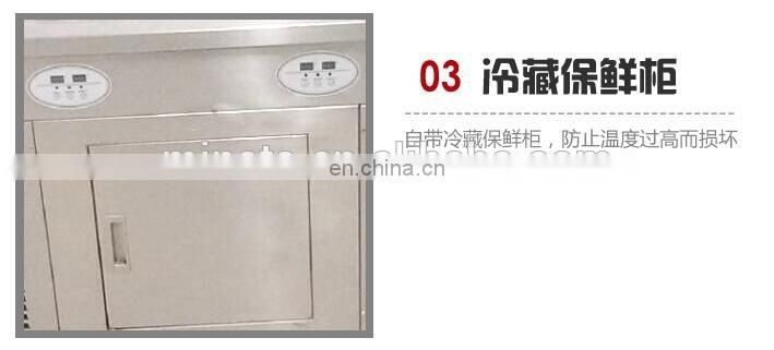 single pan double pan and refrigeration buckets fruit,milk fried ice cream machine flat pan fried ice cream machine
