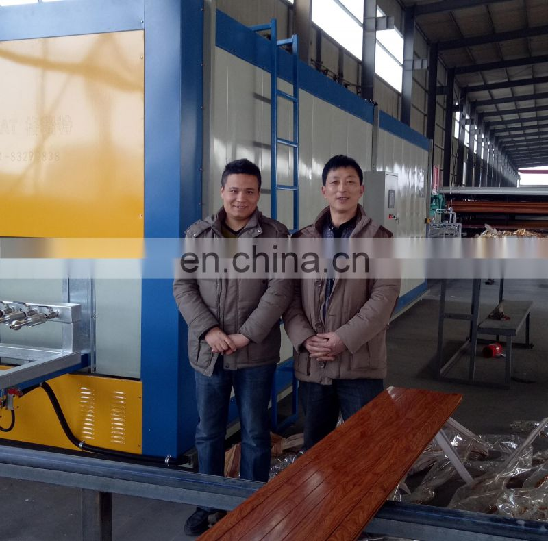 Advanced wood grain transfer machine for aluminum windows and doors MWJ-01