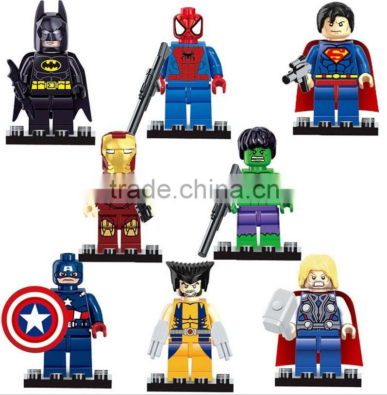 DIHAO movie character plastic building blocks toys manufacture,mini brick building block figure,customized building block toy