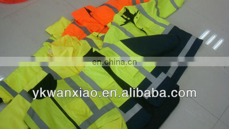 reflective safety clothes with sealing and waterproof