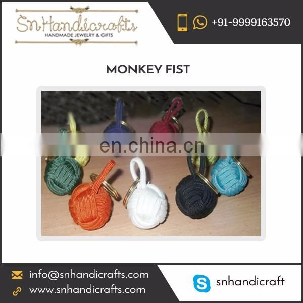 Precisely Crafted Monkey Fist Nautical Rope Keychain at Wholesale Rate