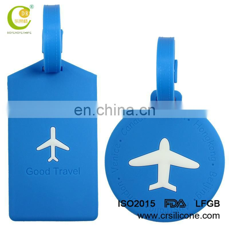 Customize durable silicone baggage tag pvc luggage tag