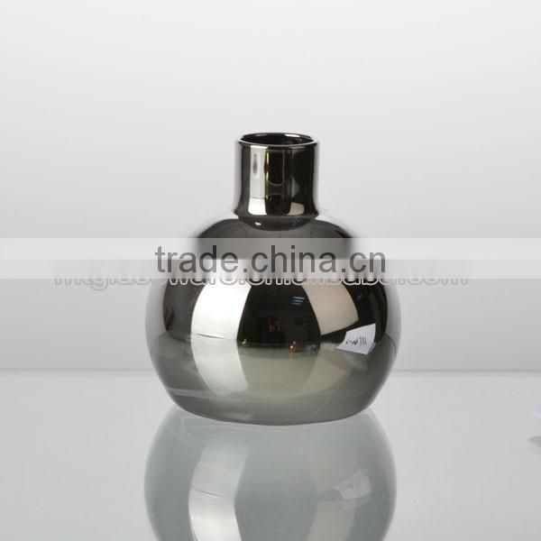 hand made top grade home decor color electroplate glass vase style