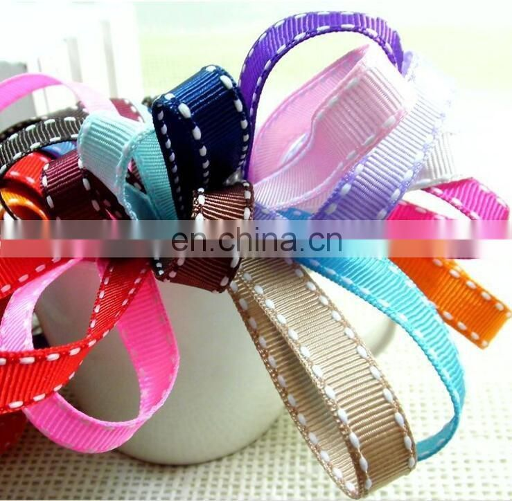 various colours 1cm saddle stitch grosgrain ribbon