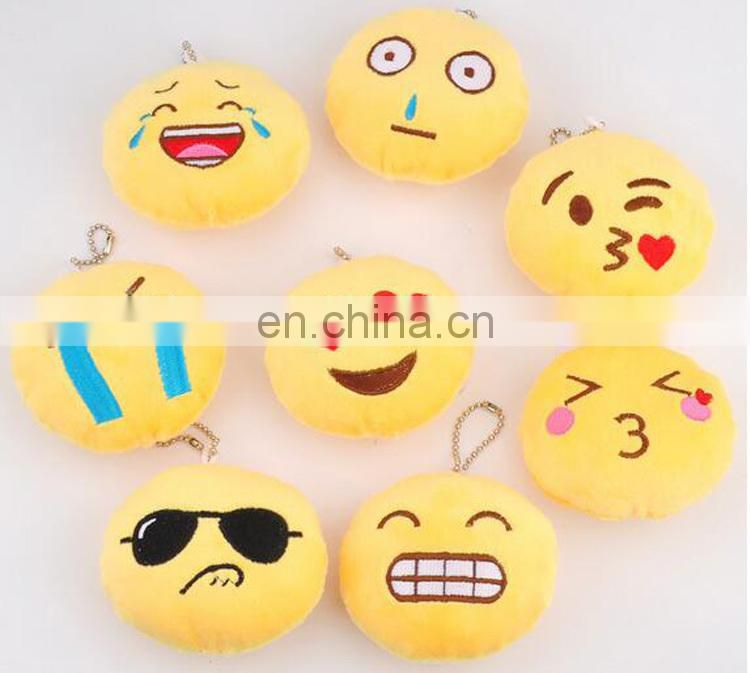 ICTI promotional Mini emoji animal stuffed plush soft toys small keychain for bulk supplier