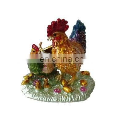 2016 handmade cheap metal hen decorative trinket box