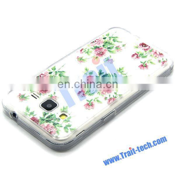 Quick Delivery Color Painting Acrylic TPU Case for Samsung Galaxy Galaxy Core Prime G360 Flowers