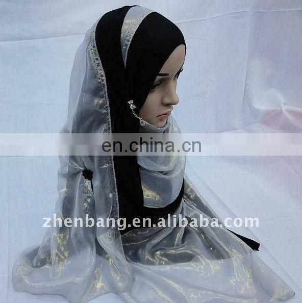 OEM Muslim Lady Classic Silk Scarf Hot Sell