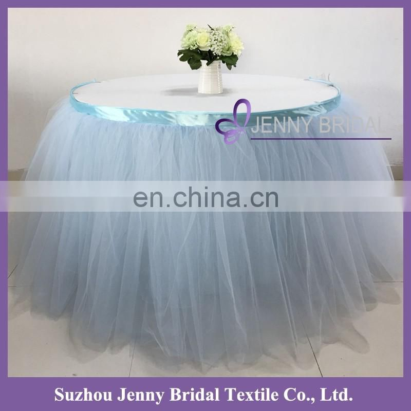 TC091 extra long tulle table skirt chiffon table skirt