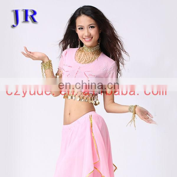 Egyptian style hanging coins belly dance costume top for women S-3008#