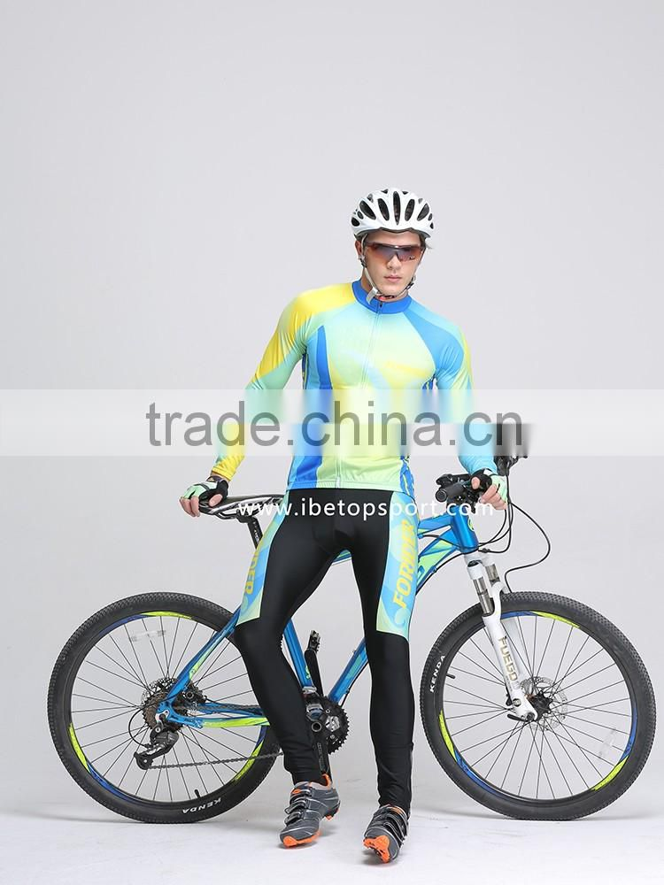 Custom Sportswear Cycle Clothing with Breathable Road Bicycle Bike Jersey Lightweight Padded Cycling Tights