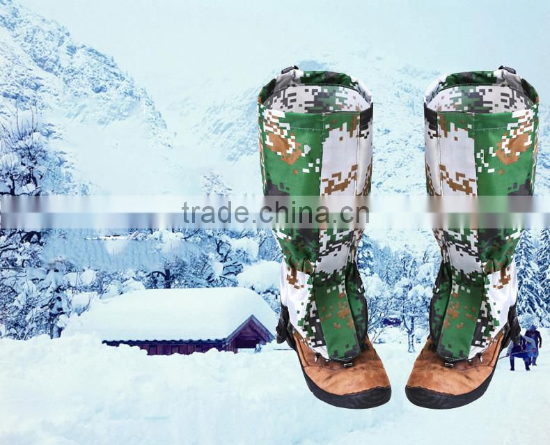 Outdoor hiking climbing skiing camouflage waterproof gaiters