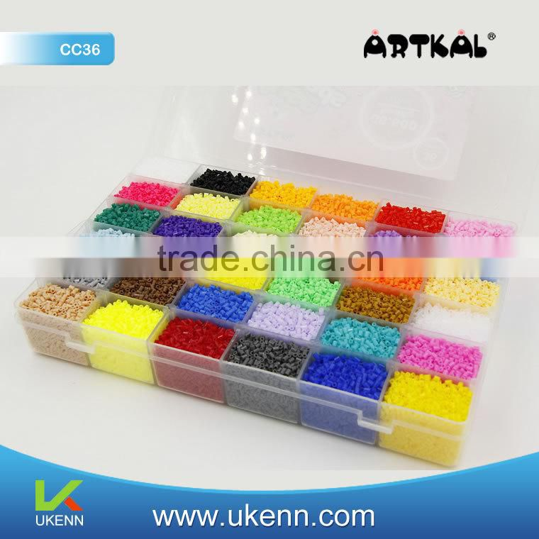 ARTKAL soft fuse beads C-2.6MM 66600 beads/box 36colors faith charm bracelet perler beads earring findings components