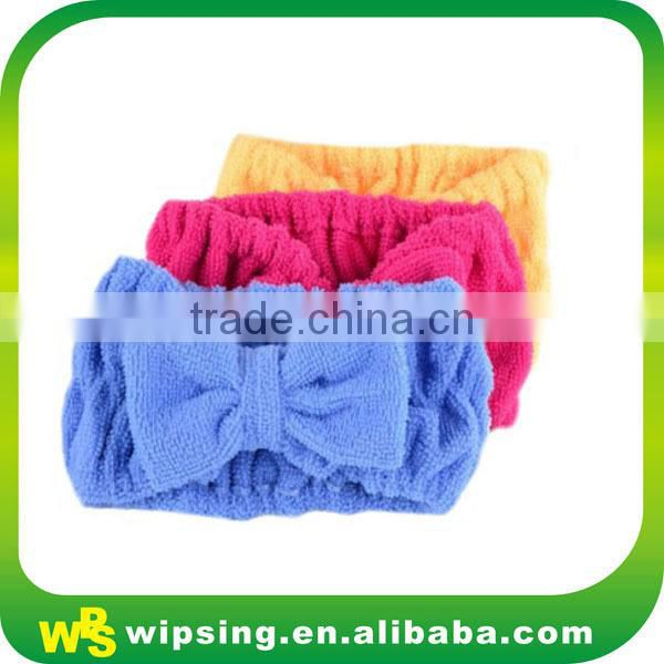 High quality terry cloth headband with flower