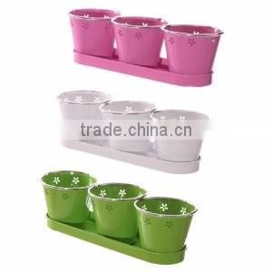 coloured finished round planters for sale
