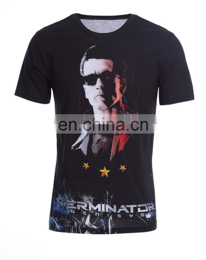 Breathable Quick Dry Gym Sports T Shirt Sublimation Custom T Shirt
