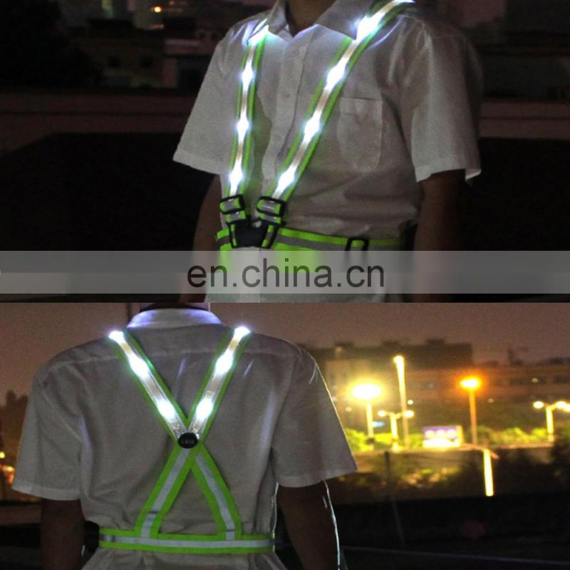 NEW led safety vest reflective vest bike clothing white safety vest