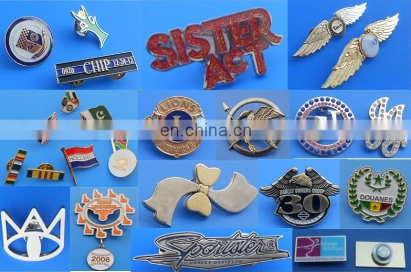 Company logo serial number metal music badges with epoxy coated