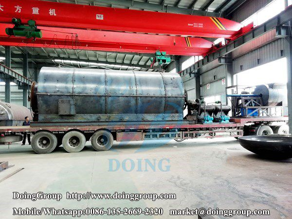 2 sets 10 T/D waste tyre pyrolysis plants delivery to Yunnan